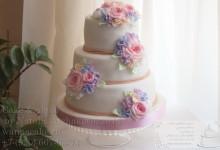 Свадебный цветочный торт