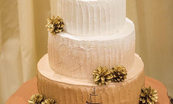 Две белочки. Свадебный торт