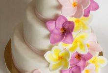 Тропический свадебный торт