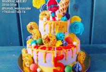 Яркий детский фееричный торт с троллями!