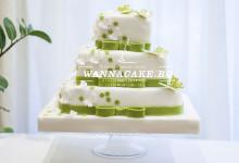 Quadratisch. Praktisch. Gut. Необычный квадратный свадебный торт в зеленых тонах