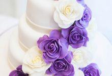 Цветочный водопад. Свадебный торт