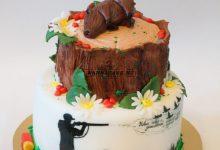 Торт охотнику на юбилей