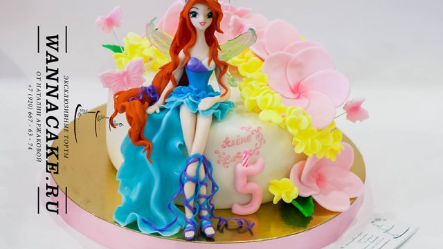 "Торт ""Фея Винкс. Блум"" Winx. Bloom. Cake"