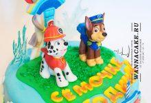 """3D торт по мотивам мультсериала """"Щенячий патруль"""" (""""Paw patrol""""). Гонщик Чейз и Маршал"""